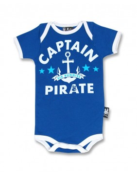 Pirate romper for baby by Six Bunnies main