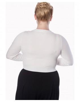 Banned cardigan Dolly Blanco trasero