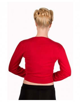 Banned little luxury red cropped cardigan back