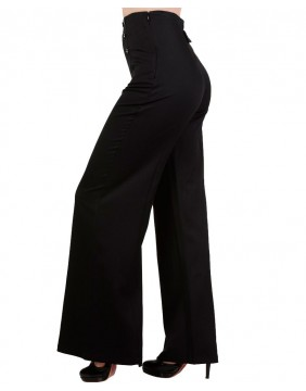 Banned stay away trousers black side
