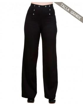 Banned pantalones stay awhile negro delantero