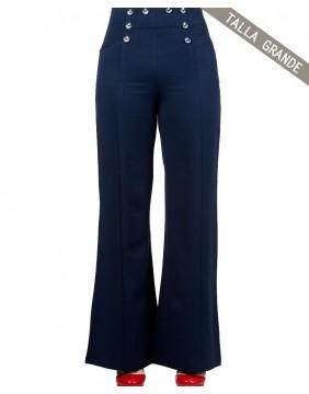Pantalones Banned stay awhile azul marino delantero