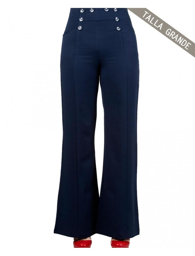 Banned stay away trousers navy blue front