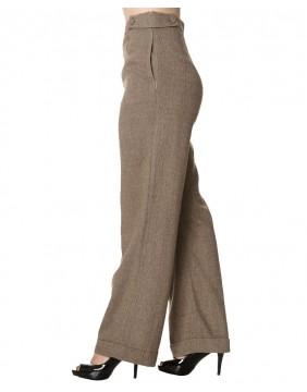 Banned pantalones anchos lady luck para mujer