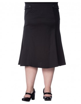 Banned Elegance Black Wavy skirt front