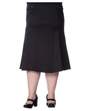 Falda Banned Elegance Negra Ondulada delantera