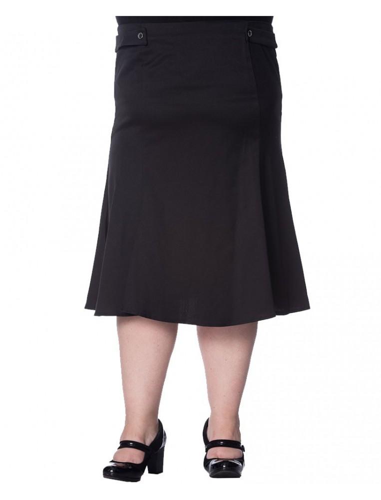 Banned Elegance Black Wavy skirt front