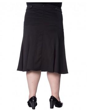 Banned Wavy Black Skirt Back