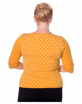 Banned yellow charming heart jumper back