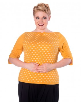 Banned jersey amarillo charming heart delantero