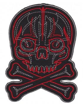 Parche Pinstriped Skull