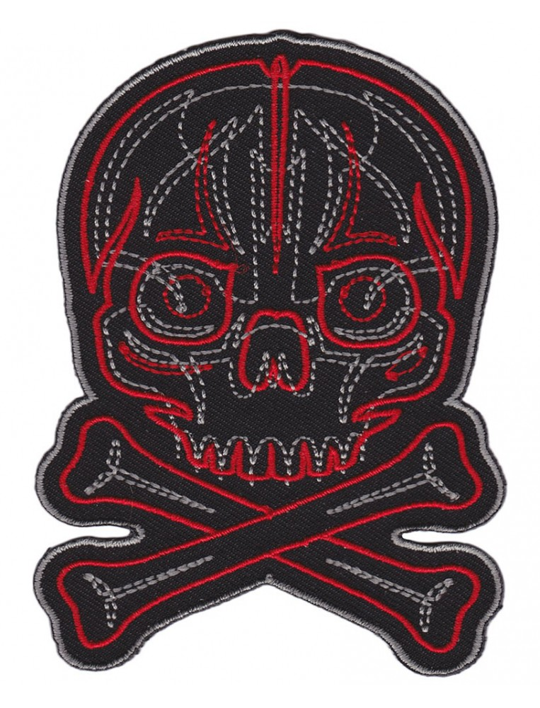 Pinstriped Skull Patch