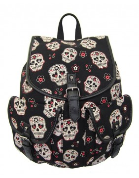 Banned Sugar Skull Backpack