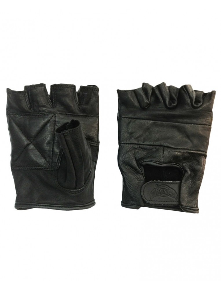 Guantes de cuero sin dedos parte superior