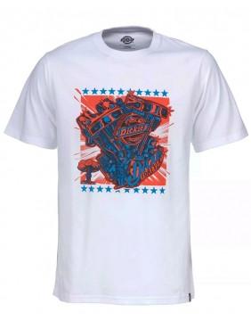 Camiseta Granger Dickies blanca estampada con motor
