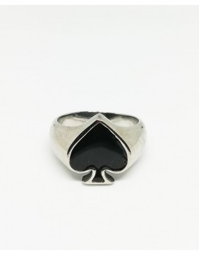 Black Ace of Spades Ring
