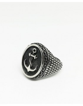 Anchor Oval Steel Ring