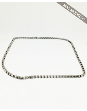 Steel Rounded Chain Necklace