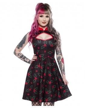 Sourpuss Holly Bats Cadet Dress