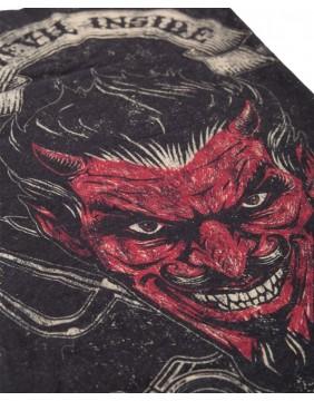 King Kerosin Devil Inside Scarf, close up