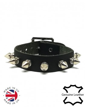 1 row spikes leather wristband principal