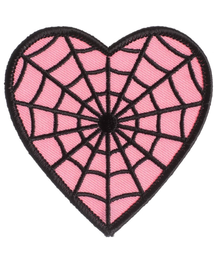 Sourpuss webbed heart patch