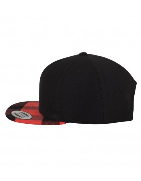 Urban Classics Checked Snapback Cap left profile
