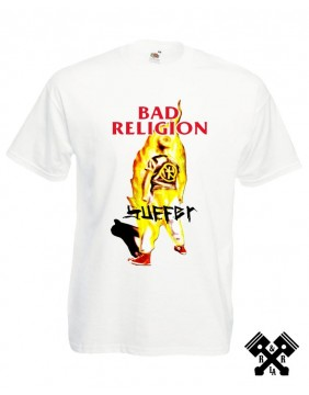 Camiseta Bad Religion Suffer blanca  principal
