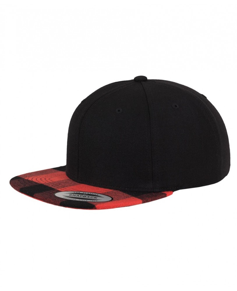 Urban Classics Checked Snapback Cap front to right