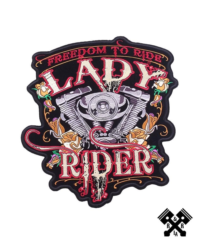 Back patch lady rider