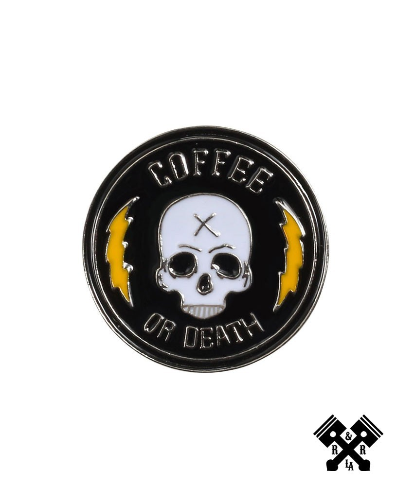 Pin calavera cafe