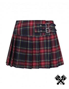 Banned Red Mini Skirt