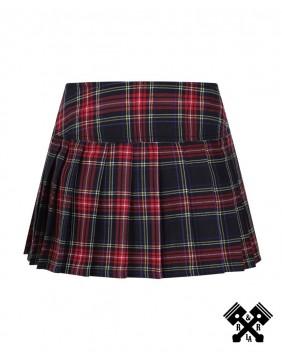 Mini falda roja escocesa de Banned detras