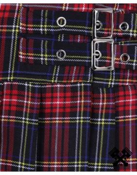 Mini falda roja escocesa de Banned detalle hebillas