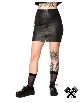 Banned Leo Leather Mini Skirt