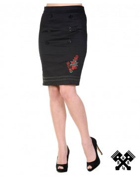 Banned Anchor Pencil Skirt