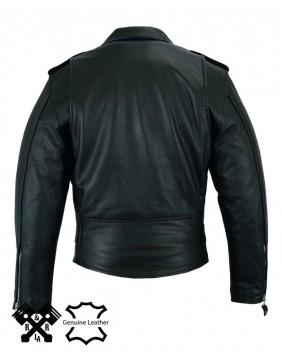 """chaqueta de cuero motera para hombre """"Perfecto"""" espalda"""