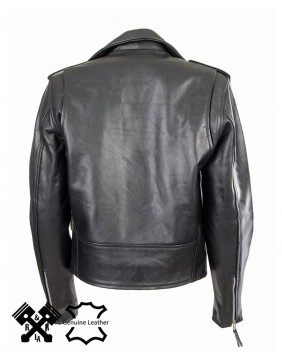 "Brando ""Perfecto"" fit leather Jacket for woman back"