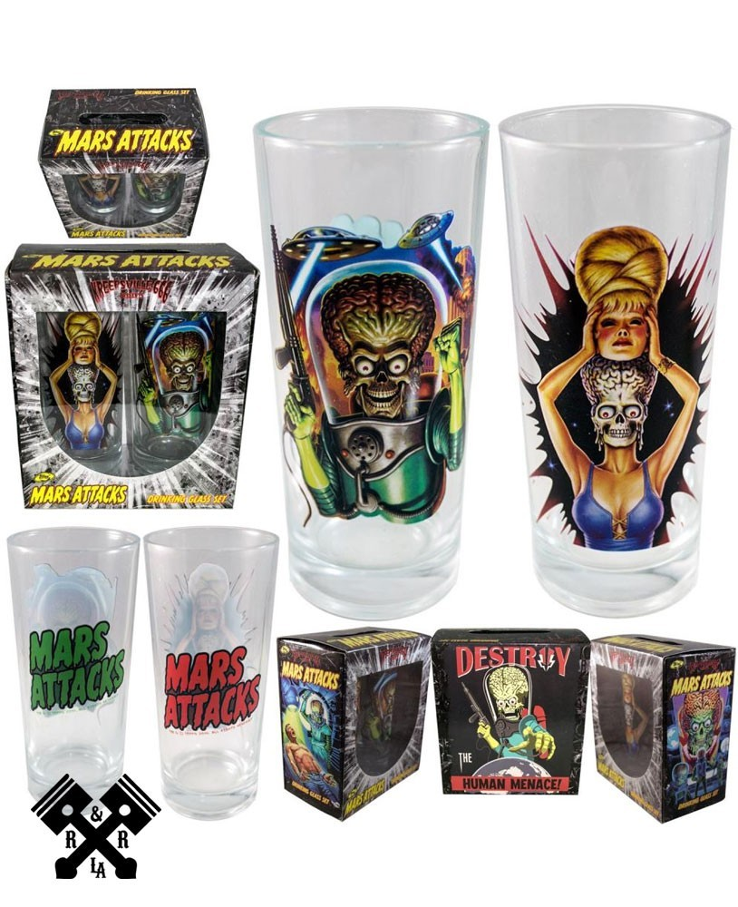 Mars Attacks Glass Set