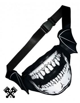 Vampire Skull Hip Pouch Detail