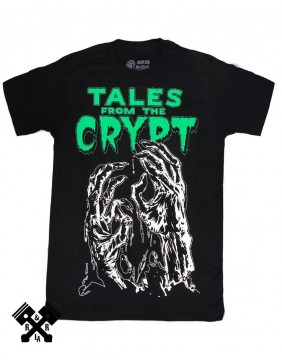 Tales From The Crypt Glow Hands Tshirt Detail