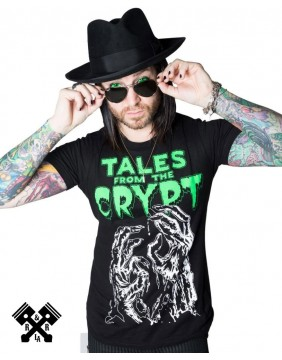 Tales From The Crypt Glow Hands Tshirt Guy