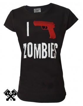 Camiseta de mujer I kill zombies para mujer marca Darkside