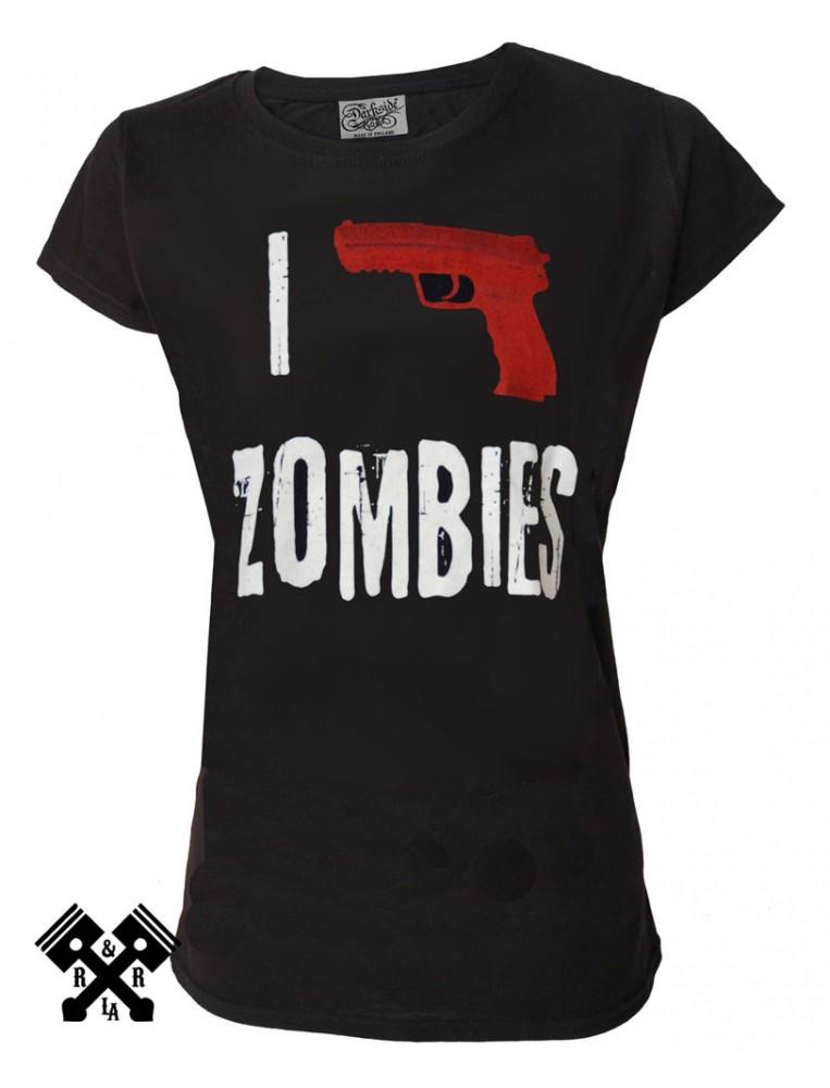 Darkside I Kill Zombies T-shirt for woman