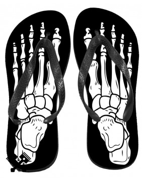 Unisex Skeleton Flip Flops from Darkside