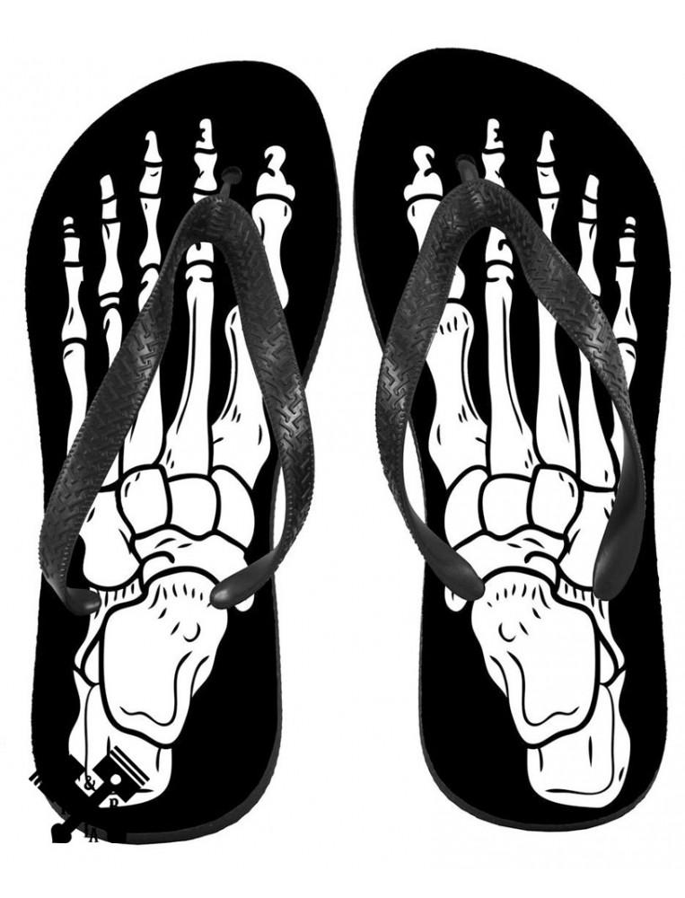 Unisex Skeleton Flip Flops from Darkside