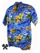 Karmakula Panama Hawaiian Shirt Blue