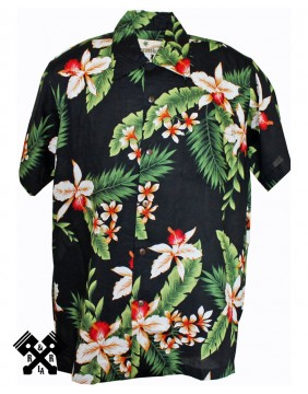 Karmakula Cayo Black Hawaiian Shirt for man
