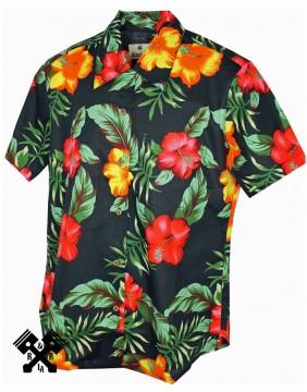 Karmakula Camisa Hawaiana Soho Black para mujer