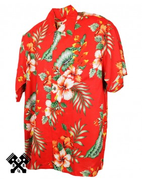 Karmakula Venezuala Red Hawaiian Shirt for man